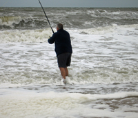 Ben fishing in the North Sea
